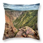 Rugged Edge Of The Canyon Throw Pillow