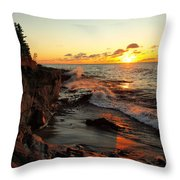 Rugged Shore Fall Throw Pillow