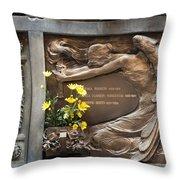 Ruggeri Roncoroni Guzzi Grave Marker Monumental Cemetery Milan Throw Pillow