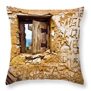 Ruined Wall Throw Pillow
