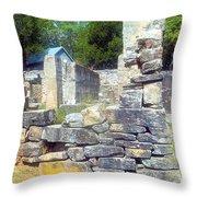 Ruins At Cosley Mill Throw Pillow