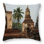 Ruins At Sukhotai Throw Pillow