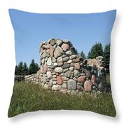 Ruins Of A Stone Silo Throw Pillow
