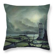 Ruins Of Cathedra Throw Pillow