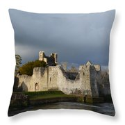Ruins Of Desmond Castle Throw Pillow