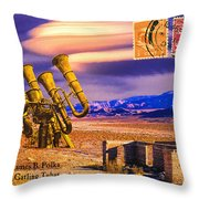 Ruins Of Fort James B. Polka And Prototype Gatling Tubas Throw Pillow