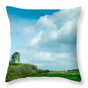 Ruins Of Irish Castle Throw Pillow