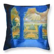 Ruins Of Lankapura Throw Pillow