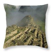 Ruins Of Machu Picchu Peru Throw Pillow