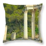 Ruins Of Roman Columns In Glanum  Throw Pillow