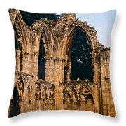 Ruins Of St. Mary's Abbey Throw Pillow