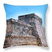 Ruins Of Tulum Mexico Throw Pillow