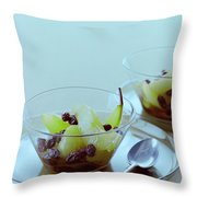 Rum Raisin Poached Pears Throw Pillow