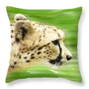 Run Cheetah Run Throw Pillow