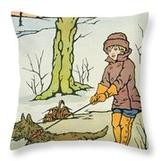 Run Dandy Run Throw Pillow
