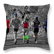Run In The Park Throw Pillow