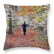 Run Through The Woods Throw Pillow