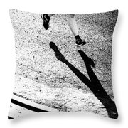 Runner's Shadow Throw Pillow