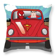 Running Away  Throw Pillow