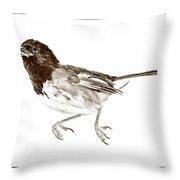 Running Bird Throw Pillow by Susan Leggett