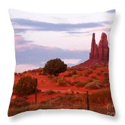 Running Cactus Throw Pillow