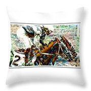 Running Chrome Throw Pillow
