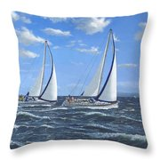 Running Close Hauled Throw Pillow
