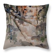 Running Downhill Throw Pillow