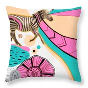 Running High Throw Pillow by Susan Claire