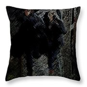 Running In The Shadows Throw Pillow