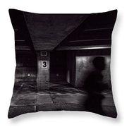 Running Level Three Night People Throw Pillow by Bob Orsillo
