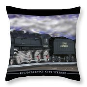 Running On Time Throw Pillow