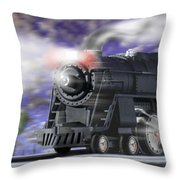 Running On Time Panoramic Throw Pillow
