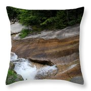 Running Over Granite  Throw Pillow