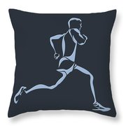 Running Runner12 Throw Pillow