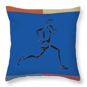 Running Runner2 Throw Pillow
