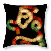 Running Santa Throw Pillow