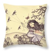 Running To The Spring Throw Pillow