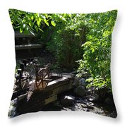 Running Water To Canyonlands Throw Pillow