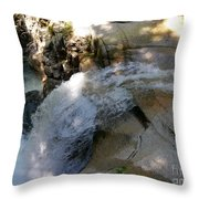 Running Waters Of Sabbaday Falls Throw Pillow