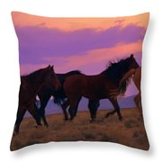 Running Wild Running Free  Throw Pillow
