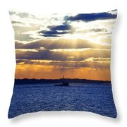 Running With The Light Throw Pillow