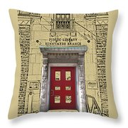 Runnymede Library Throw Pillow
