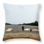 Runway 14 Throw Pillow