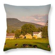 Rupert Vermont Dairy Farm Throw Pillow