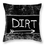 Rural Area Sign Throw Pillow