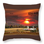 Rural Barns  My Book Cover Throw Pillow
