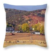 Rural California Ranch Throw Pillow