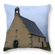 Rural Church In Brittany Throw Pillow