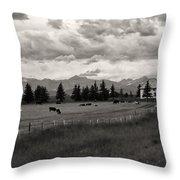 Rural Church Throw Pillow